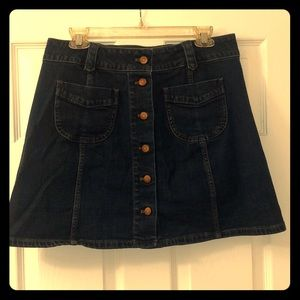 Button down denim Madewell skirt